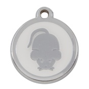 Tagiffany - My Sweetie White Mouse Pet ID Tag