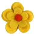 Bloom Cat Collar Flower Accessory - Yellow & Amber 2