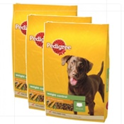 Pedigree - Complete Weight Control Chicken & Veg Dog Food x 3