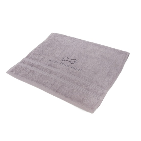 Personalised Towel – Grey (Pack of 10)