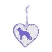 Free Spirit Designs - Dog Breed Ceramic Heart - Purple