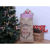 Handcrafted Christmas - Dasher – Personalised Large Christmas Sack with Red Gi