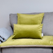 The Lounging Hound - Velvet Scatter Cushion - Grass