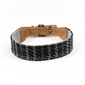 Tweed & Leather Dog Collar - Ascot 3