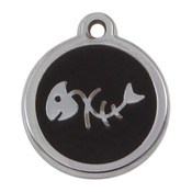 Tagiffany - My Sweetie Black Fishbone Pet ID Tag