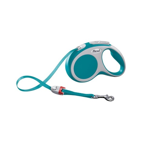 VARIO Small Retractable Lead 5m - Turquoise