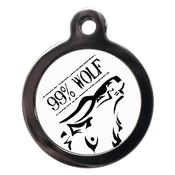 PS Pet Tags - 99% Wolf Pet ID Tag