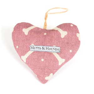 Heather Bone Linen Lavender Heart