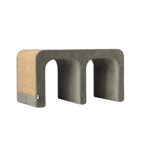 Scratching Post - Letter M - Grey