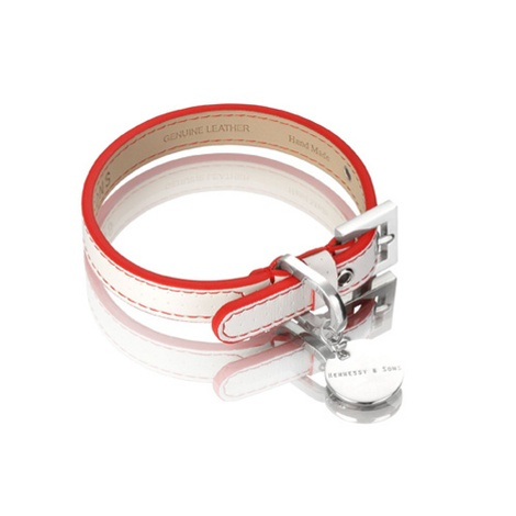 Polo Collar White/Red