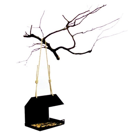 Bauhaus Bird Feeder - Black