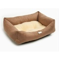 Chestnut Sherpa Fleece Dog Bed