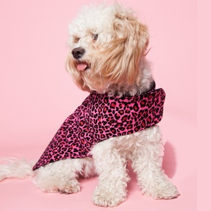 Leopard print remains a strong look for this season and the funky colourways of this fleece-lined jacket will ensure your pet stands out.