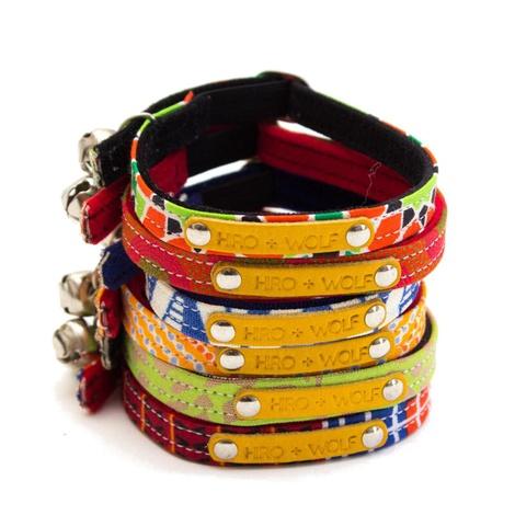 Kiwi Shweshwe Red Cat Collar 5