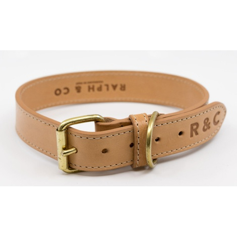 Leather Dog Collar (Trieste) - Light Tan 3