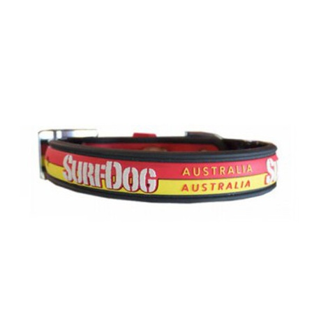 Surf Dog Waterproof Dog Collar - Yellow/Orange