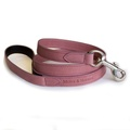 Heather Leather Dog Lead - Pastel Pink