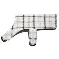 Luxury Black & White Check Mohair Dog Coat 2