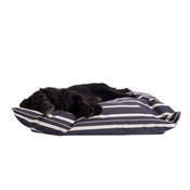 The Lounging Hound - Signature Cotton Dog Bed - Navy