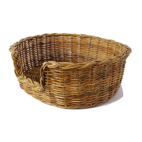 Natural Oval Rattan Dog Basket 3