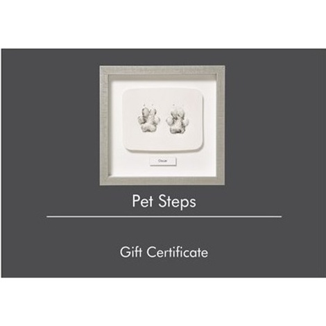 Framed Personalised Paw Mould 6