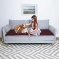 Wool Sofa Topper - Damson 2
