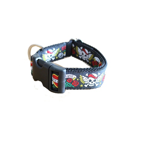 Skull Tattoo Dog Collar