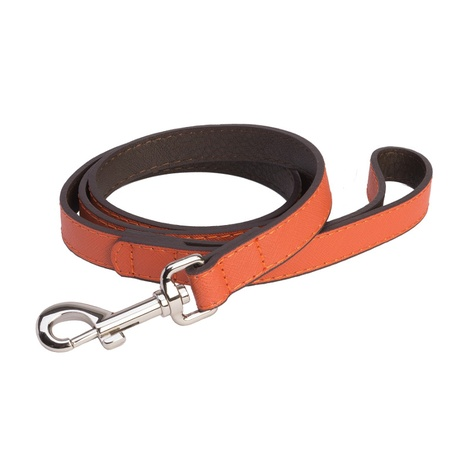 DO&G Leather Dog Lead - Orange