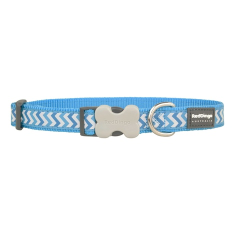 Ziggy Reflective Dog Collar – Turquoise