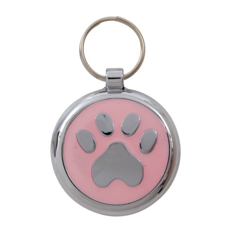 Smarties Light Pink Paw Pet ID Tag