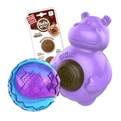 Pet Brands - Belly Bites Hippo and Giwi Ball Bundle