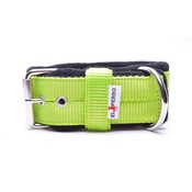 El Perro - 4cm Width Fleece Comfort Dog Collar – Neon Green