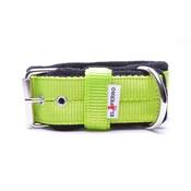 El Perro - 4cm Width Fleece Comfort Dog Collar – Neon Green