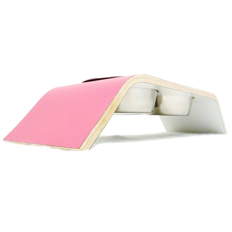 Pink & White Designer Pet Feeder 2