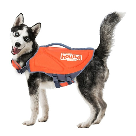 Neoprene Dog Life Jacket – Orange