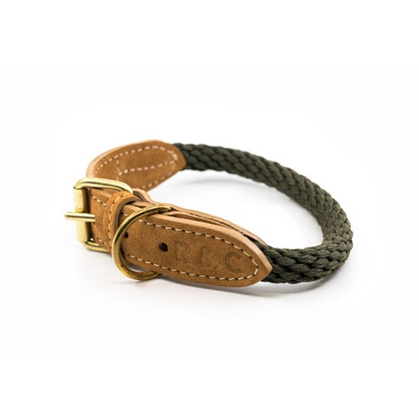 Rope collar (Braided) - Khaki 2