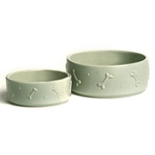 Mutts & Hounds - Ceramic Dog Bowl - Sage Green