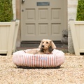 Orange Stripe Donut Dog Bed 3
