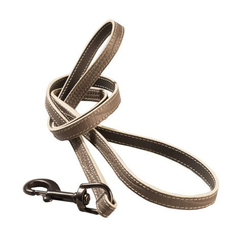 Paris Croc Dog Lead – Steeple Grey & Stone