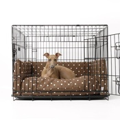 Charley Chau - Dog Crate Mattress & Bed Bumper Set - Dotty Chocolate