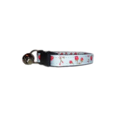 Vintage English Rose Cat Bandana & Collar Set 2