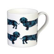 The Graduate Collection - Dachshund Mug - Turquoise