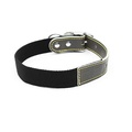 Black Cotton Webbing Dog Collar 2