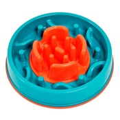 PJ Pet Products - 2 in 1 Anti Gobble Feeder and Interactive Game - Teal