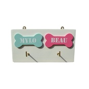 Crafty Pup - 3D Personalised Lead Holder with Two Bones