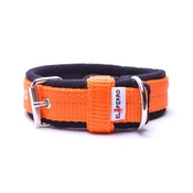 El Perro - 2.5cm width Fleece Comfort Dog Collar – Orange