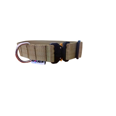 K9 CREW Cobra Tactical Collar (Khaki)