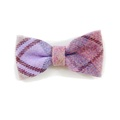 Pink Shetland Wool Dog Bow Tie