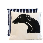 Tomato Catshop - Greyhound Butcher Stripe Cushion