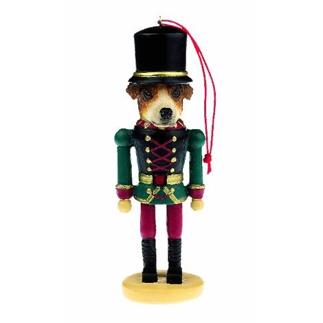 Jack Russell Nutcracker Soldier Ornament